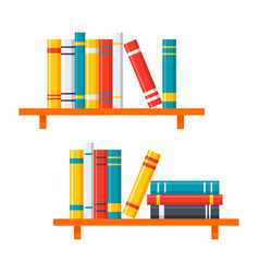 bookshelves icon vector image vector image