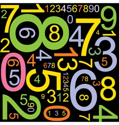 colourful numbers vector image vector image