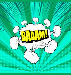 comic explosive bright template vector image