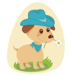 Cowboy puppy vector