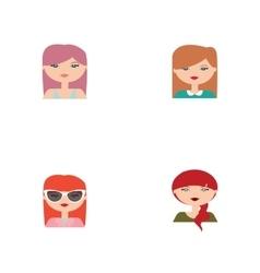 Cute women face vector image vector image