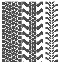 Extreme mud tyres seamless prints vector