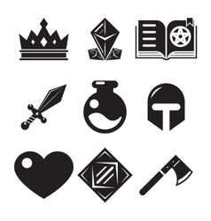 Fantasy game icons vector