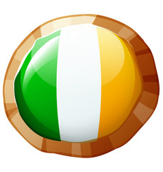 Flag of ireland in round frame vector