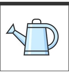 Garden watering pot icon vector image vector image