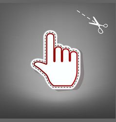 hand sign red icon with for vector image vector image