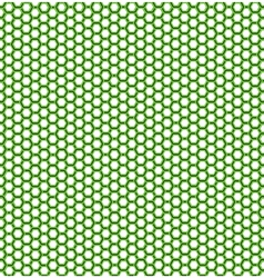 Honeycomb green pattern vector