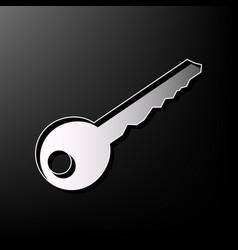 Key sign gray 3d printed vector