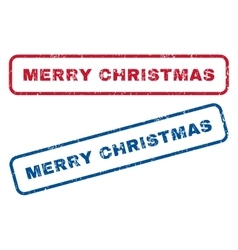 Merry Christmas Rubber Stamps vector image