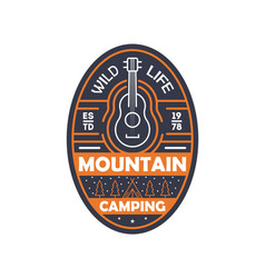 mountain camping vintage isolated badge vector image