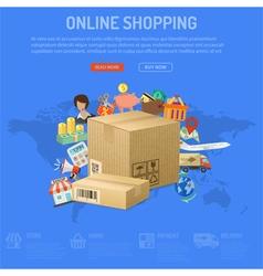 Online shopping concept vector
