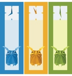 origami isolated animal Cute Owl vector image vector image
