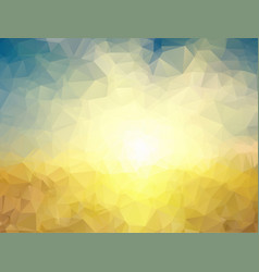 polygonal background yellow and blue polygons vector image