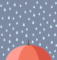 Rain drops with umbrella vector image