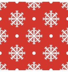 Red seamless snowflake pattern EPS10 vector image vector image