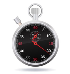 Retro mechanic chromed stopwatch vector image