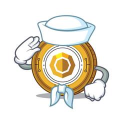 Sailor komodo coin character cartoon vector