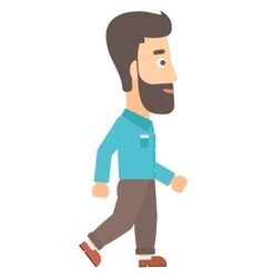 Smiling businessman walking vector image