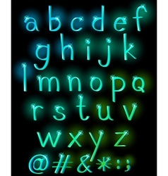 Sparkling letters of the alphabet vector
