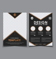 Template black a4 brochures vector