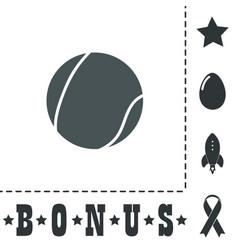 Tennis ball icon sign and button vector