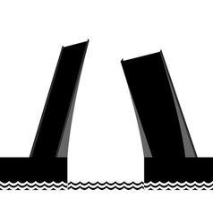 The drawbridge vector