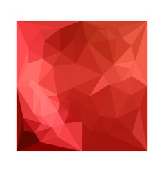 Tomato red abstract low polygon background vector