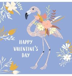 Valentine modern card vector image vector image
