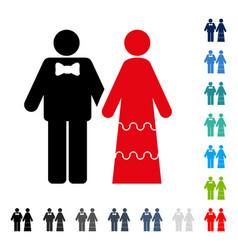 wedding persons icon vector image vector image