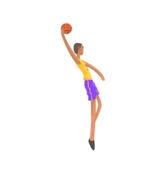 Very tall basketball player action sticker vector