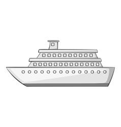 Passenger vehicle icon gray monochrome style vector
