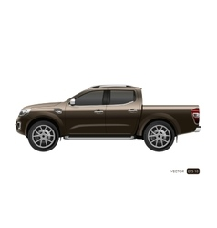 Off-road car on white background vector