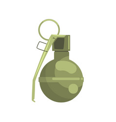 Hand grenade military weapon colorful vector