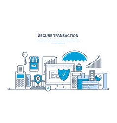 Transactions and payments security of deposits vector