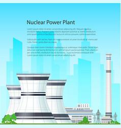 Flyer nuclear power plant vector