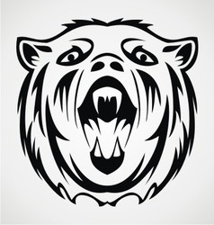 Bear face tattoo design vector