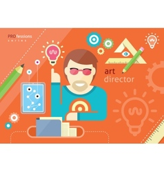 Creative people design occupations art direction vector