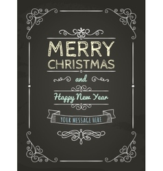 Doodle merry christmas greeting card vector