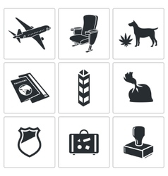 Drug trafficking icon set vector