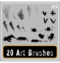 Art brushes vector