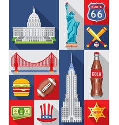 Set of new york city vector