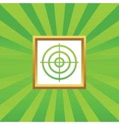 Aim picture icon vector