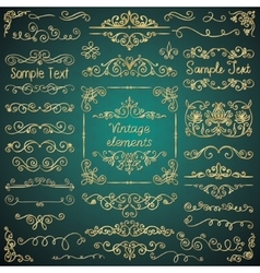 Golden glossy luxury hand drawn design vector