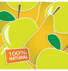 apple and pears background vector image