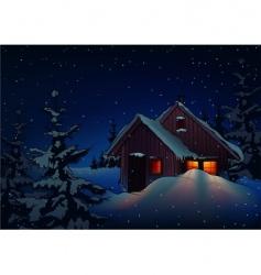 snowy christmas vector image
