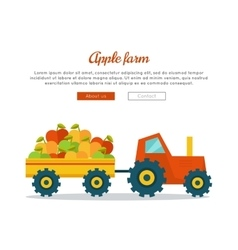 Apple farm web banner in flat design vector