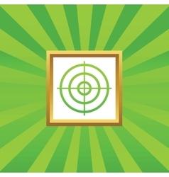 Aim picture icon vector