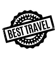 Best Travel rubber stamp vector image