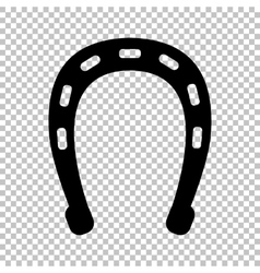 Black icon isolated on transparent vector image vector image