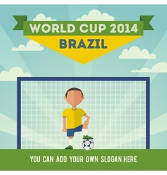 Brazil soccer world cup 2014 vector image vector image